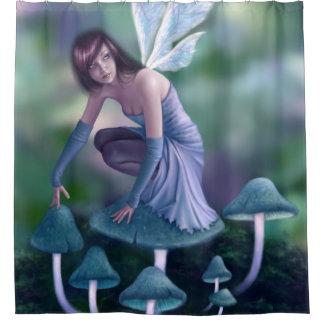 タマキビのきのこの妖精のシャワー・カーテン シャワーカーテン