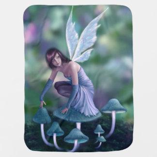 タマキビのきのこの妖精のベビーブランケット ベビー ブランケット