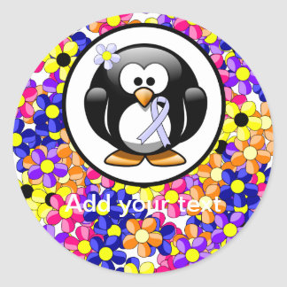 タマキビのリボンのペンギン 丸形シール・ステッカー