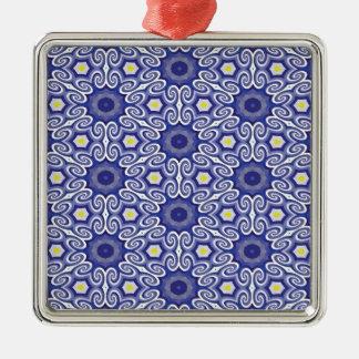 タマキビの目の錯覚 シルバーカラー正方形オーナメント