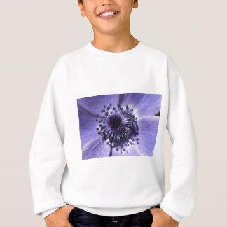 タマキビの青いアネモネの花 スウェットシャツ