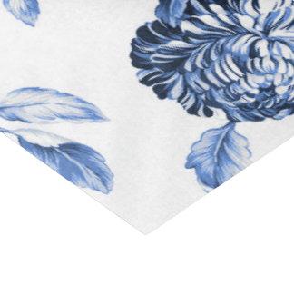 タマキビの青いヴィンテージ花のToile No.2 薄葉紙