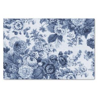 タマキビの青いヴィンテージ花のToile No.3 薄葉紙