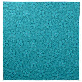 タマキビの青い花柄 ナプキンクロス