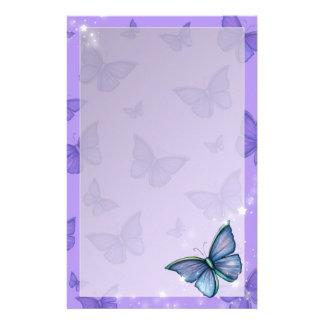 タマキビの青い蝶ファンタジーの芸術 便箋
