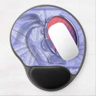 タマキビの青く写実的なハートの楕円形の写真フレーム ジェルマウスパッド