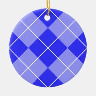 タマキビの青のアーガイル セラミックオーナメント