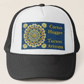 タマサボテンの曼荼羅1が付いているサボテンのHuggerの帽子 キャップ