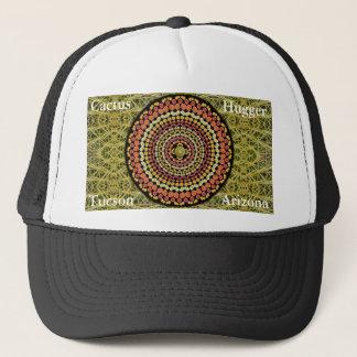 タマサボテンの曼荼羅2が付いているサボテンのHuggerの帽子 キャップ