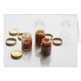 タマネギのパイナップルチャツネの原料およびpreparatio カード