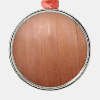 タマネギの質 シルバーカラー丸型オーナメント