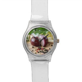 タマネギ及びコショウのグルメの腕時計 腕時計