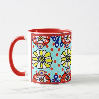 タラベラのマグ- Cinco deメーヨー-花 マグカップ