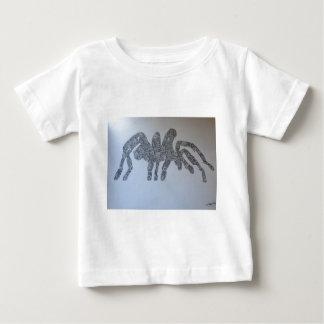 タランチュラのスケッチのデザイン ベビーTシャツ