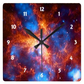 タランチュラの星雲 スクエア壁時計