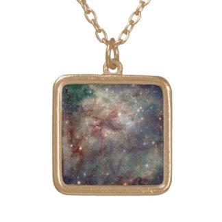 タランチュラの星雲-フレーム2 ゴールドプレートネックレス