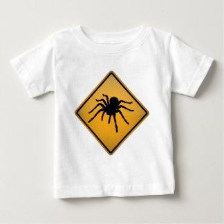 タランチュラの警告標識 ベビーTシャツ