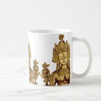 タラ仏の仏教の女神のヨガのチベットの芸術の平和 コーヒーマグカップ