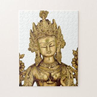 タラ仏の仏教の女神のヨガのチベットの芸術の平和 ジグソーパズル