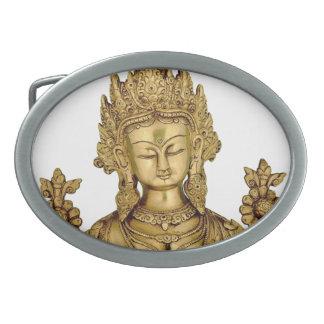 タラ仏の仏教の女神のヨガのチベットの芸術の平和 卵形バックル