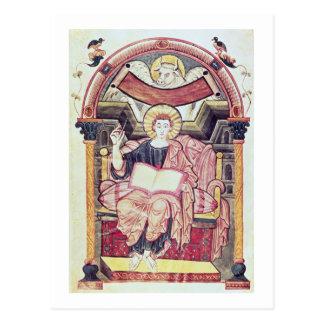 タラ22。f.85v St Luke Trevesからの福音伝道者、 葉書き