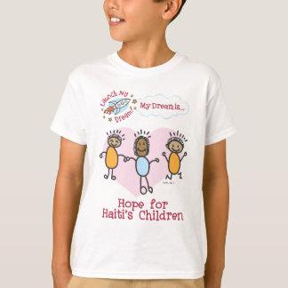 """タリアの""""ハイチの子供のための希望""""のワイシャツ Tシャツ"""