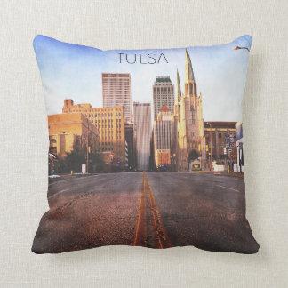 タルサのスカイラインの枕 クッション