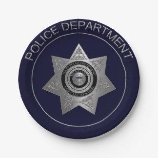 タルサ警察Deptバッジ選択2紙のプレート ペーパープレート