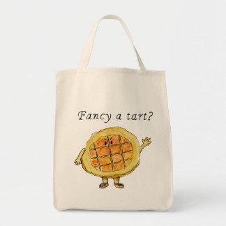 タルトを空想して下さいか。 ユーモアのあるな糖蜜の鋭いトートバック トートバッグ