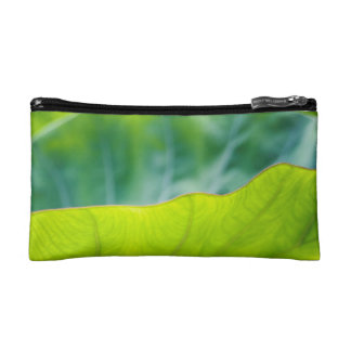 タロイモの葉のアクセサリーバッグ コスメティックバッグ