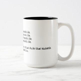 タロットのマグのLiberの星学者Alleister Crowley ツートーンマグカップ