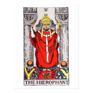 タロットhierophant ポストカード