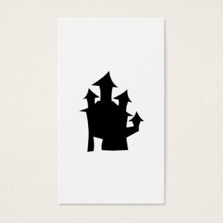 タワーが付いている古い家 名刺