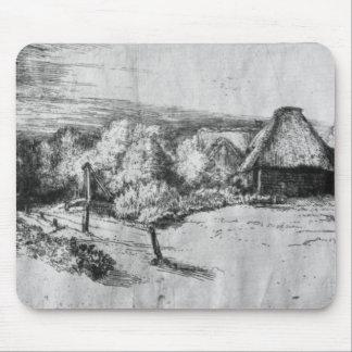 タワーとの大きい景色、c.1650 マウスパッド