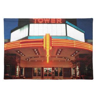 タワーの劇場、サクラメント、カリフォルニア ランチョンマット