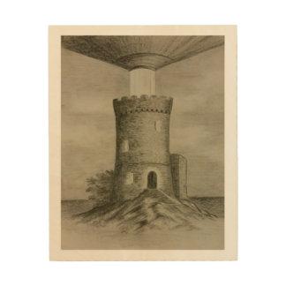 タワーの照明 ウッドウォールアート