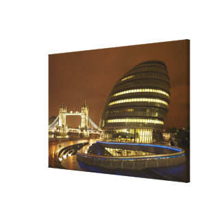 タワー橋および大ロンドンの権限 キャンバスプリント