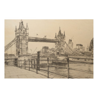 タワー橋ロンドン2006年 ウッドウォールアート