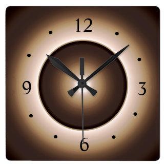 タンかブラウンによって照らされる効果のプリントDesign>Square W スクエア壁時計