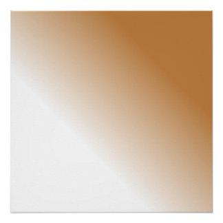 タンの暗い白いグラデーション ポスター