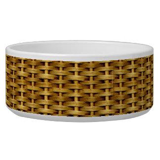タンの柳細工の一見のペットボウル 犬のえさ皿