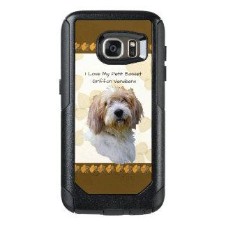 タンの葉の小さいバセット犬Griffon Vendéen オッターボックスSamsung Galaxy S7ケース