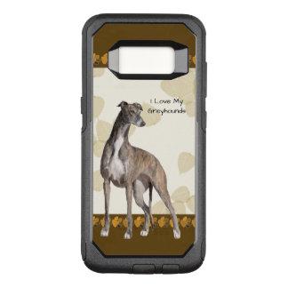 タンの葉及びブラウンPawprintsのグレイハウンド オッターボックスコミューターSamsung Galaxy S8 ケース