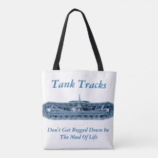 タンクは生命インスピレーションの青の泥を追跡します トートバッグ