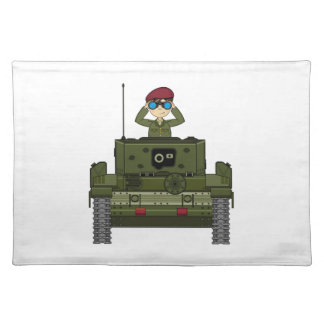 タンクランチョンマットのイギリス陸軍の兵士 ランチョンマット