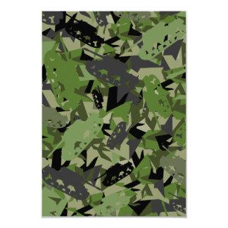 タンク軍隊のカムフラージュRSVPカード 8.9 X 12.7 インビテーションカード