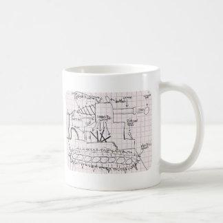 タンク青写真 コーヒーマグカップ