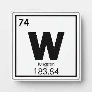 タングステンの元素の記号化学方式 フォトプラーク