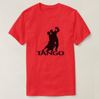 タンゴの社交ダンスのダンサーのシルエット Tシャツ