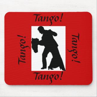 タンゴ! 社交ダンスのカップルのマウスパッド-赤 マウスパッド